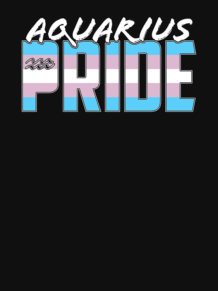 Aquarius Transgender Pride Flag Zodiac Sign by valador
