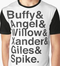 The Scooby Gang Vintage Black Graphic T-Shirt