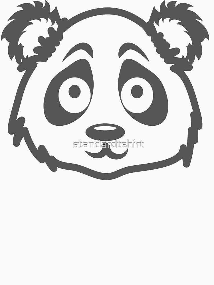 Cute Panda Face by standardtshirt