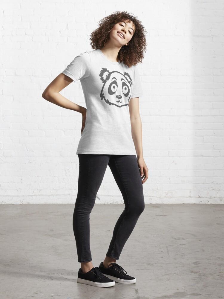 Alternate view of Cute Panda Face Essential T-Shirt