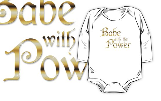 «Labyrinth Babe With The Power (negro bg)» de Falln