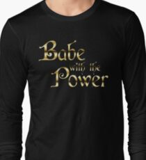 Labyrinth Babe With The Power (black bg) Long Sleeve T-Shirt