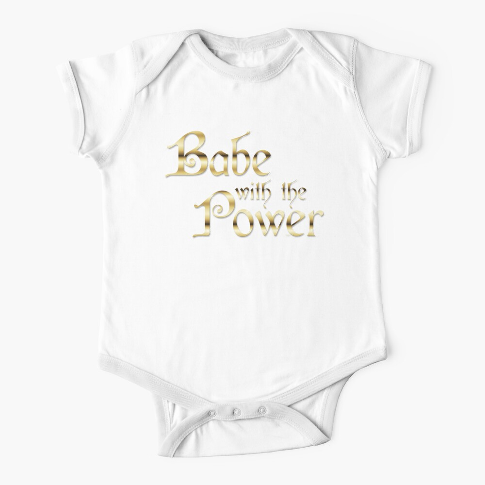 Labyrinth Babe With The Power (black bg) Baby One-Piece
