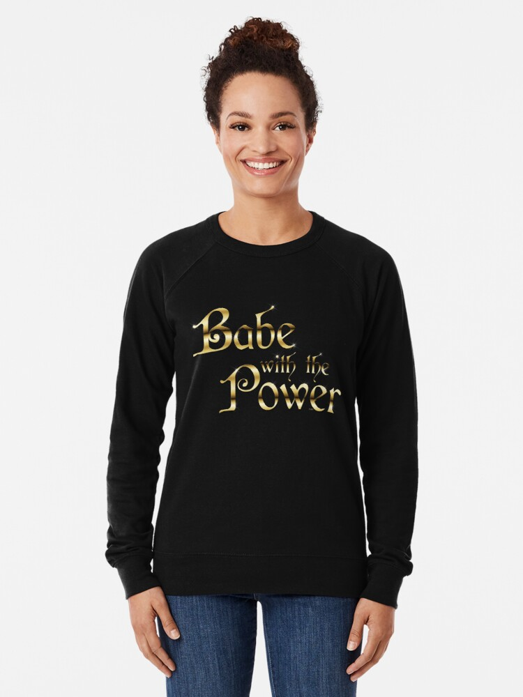 Alternative Ansicht von Labyrinth Babe mit der Macht (schwarz bg) Leichtes Sweatshirt