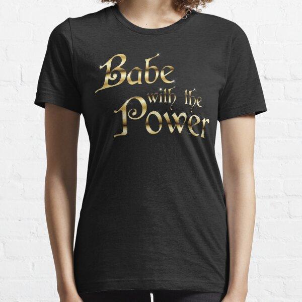 Labyrinth Babe With The Power (black bg) Essential T-Shirt