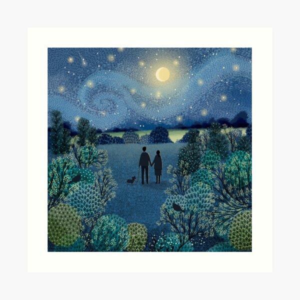 Starry Night Stroll Art Print