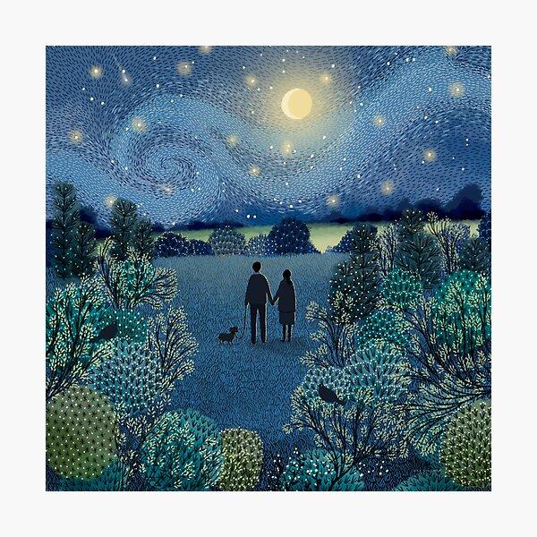 Starry Night Stroll Photographic Print
