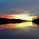 Sunset on Rollins Lake by Patty Boyte