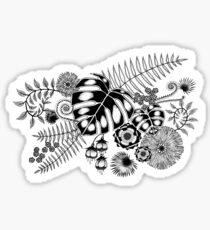 Tropical Leaves and Flowers Sticker