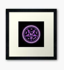 Sebastian Michaelis Sigil Light (black bg) Framed Print