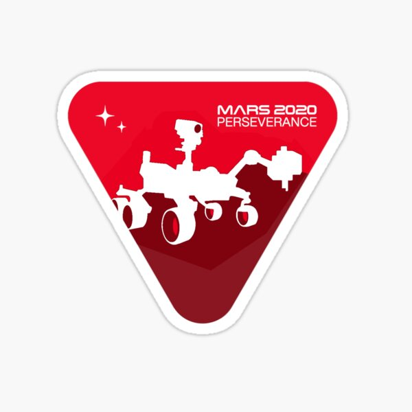 Official Mars 2020 Perseverance Rover Badge Sticker