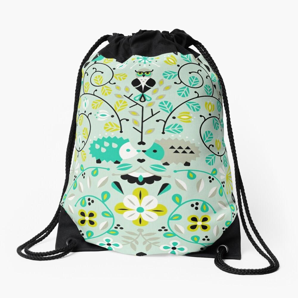 Hedgehog Lovers Drawstring Bag