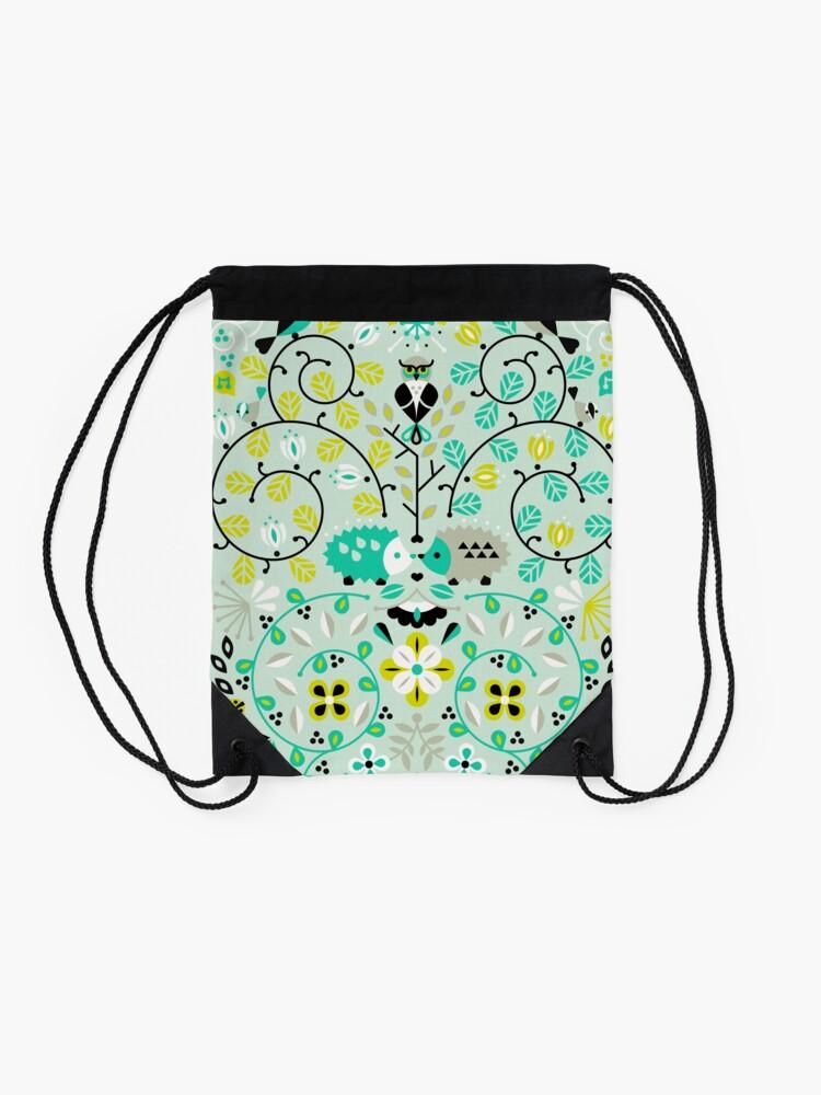 Alternate view of Hedgehog Lovers Drawstring Bag