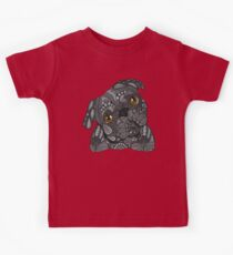 Cute black Pug Kids Clothes