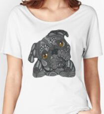 Cute black Pug Women's Relaxed Fit T-Shirt