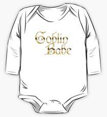 Labyrinth Goblin Babe (black bg) One Piece - Long Sleeve
