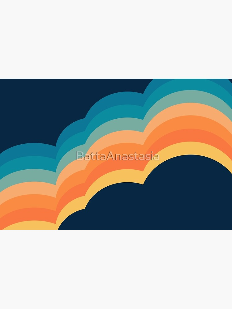 Colorful retro style clouds by BattaAnastasia