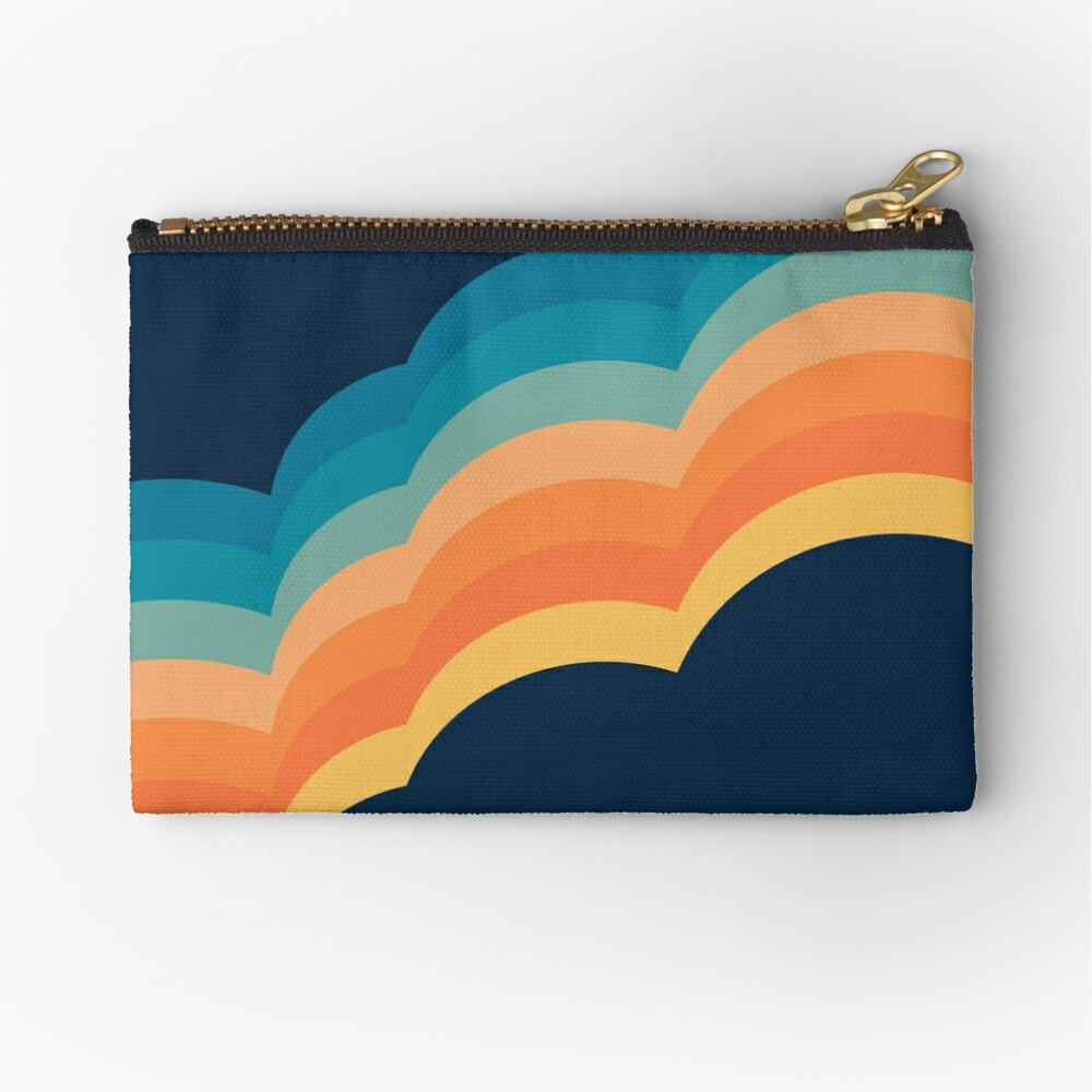 Colorful retro style clouds Zipper Pouch