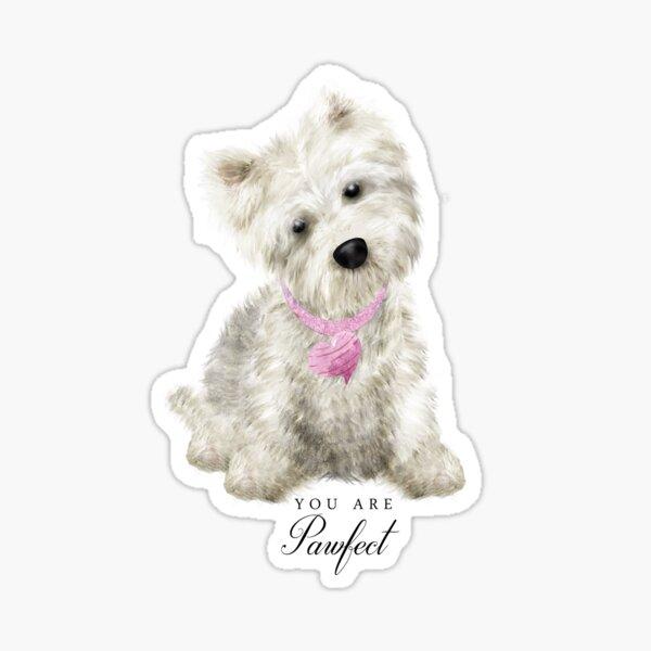 Pawfect Westie Love Sticker