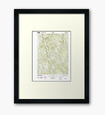 USGS TOPO Map Connecticut CT Roxbury 20120523 TM Framed Print