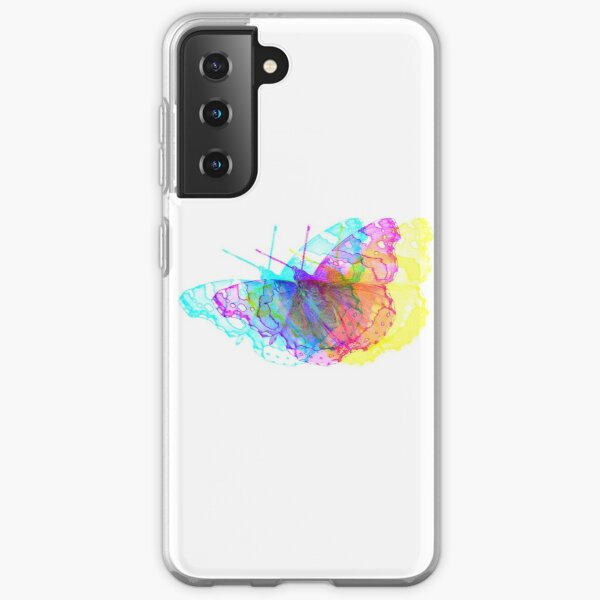 Butterfly Colorful Meadow Samsung Galaxy Soft Case