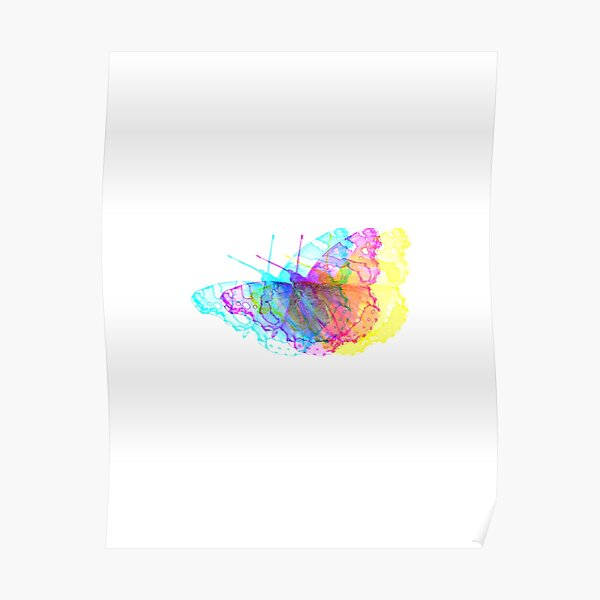 Butterfly Colorful Meadow Poster