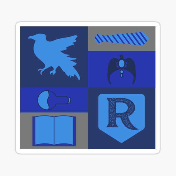 Blue Raven House - Wise and Witty Attributes  Sticker