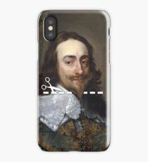 Cut Here - Charles I iPhone Case