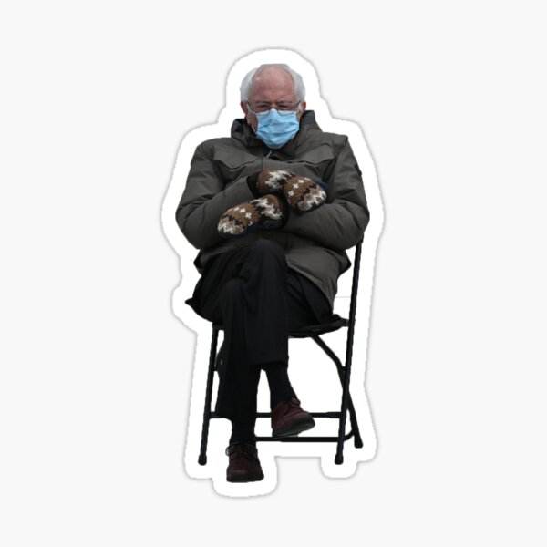 Bernie Sanders Folding Chair Sticker Sticker