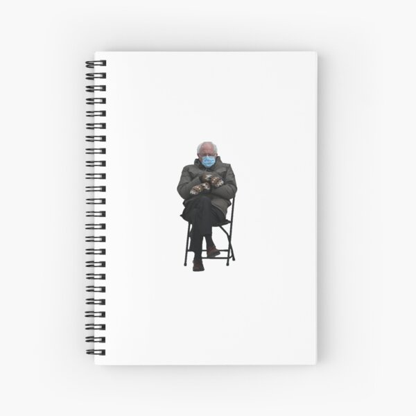 Bernie Sanders Folding Chair Sticker Spiral Notebook