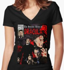 The Satanic Rites of Dracula Women's Fitted V-Neck T-Shirt