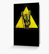 Heavy metal warning Greeting Card