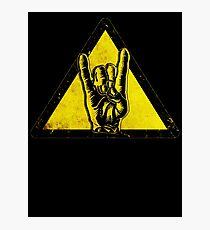 Heavy metal warning Photographic Print