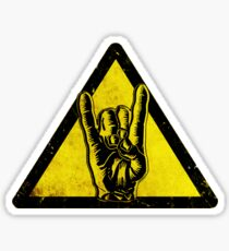 Heavy metal warning Sticker