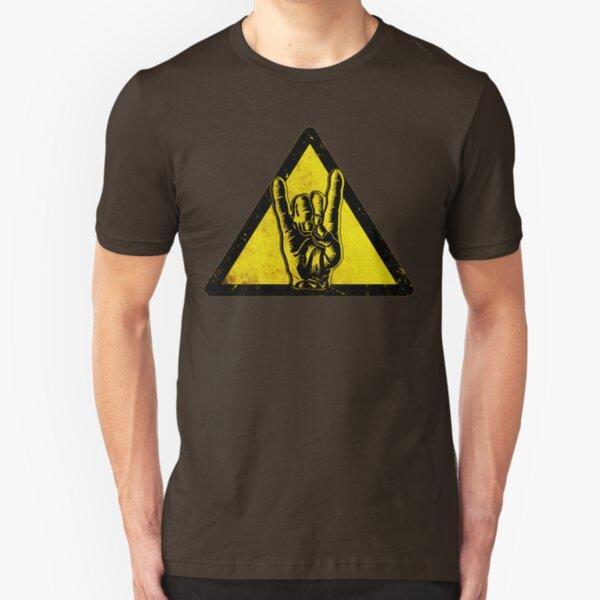 Heavy metal warning Slim Fit T-Shirt