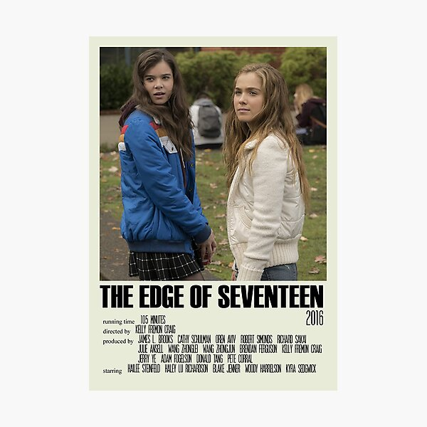 The Edge of Seventeen Alternative Poster Art Movie (2) Photographic Print