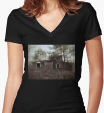 Crumbling House Women's Fitted V-Neck T-Shirt