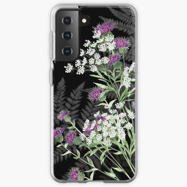 Wild Flowers - Knapweed, Ammi & Bracken Ferns Samsung Galaxy Soft Case