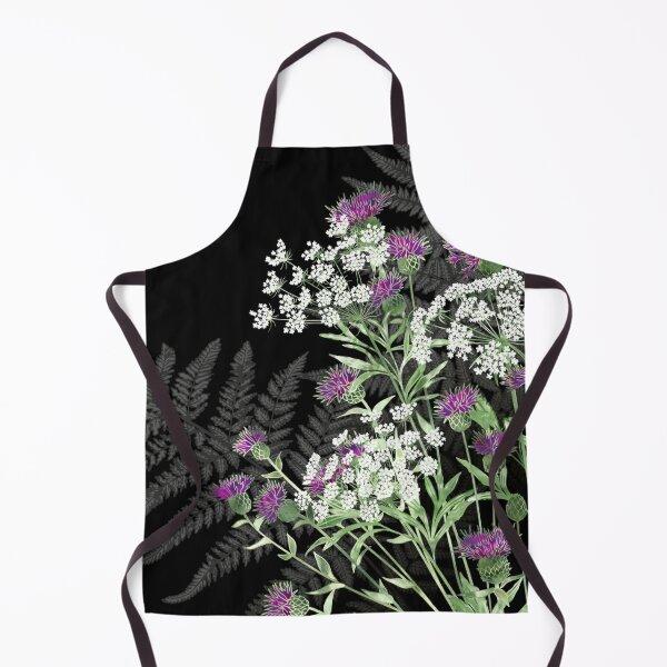 Wild Flowers - Knapweed, Ammi & Bracken Ferns Apron