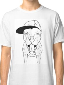 dogs, cute puppy pitbull Classic T-Shirt