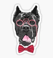 Hipster dog Cane Corso Sticker