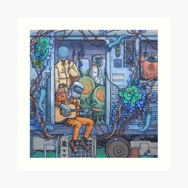 City Train Adventure Art Print