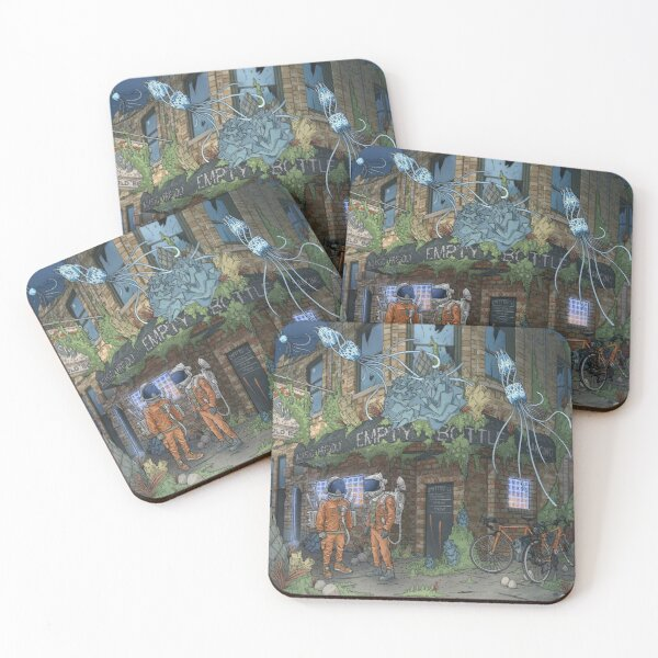 Empty Bottle Coasters (Set of 4)