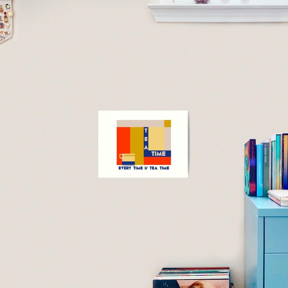 It's tea time, modern geometric art deco Art Print