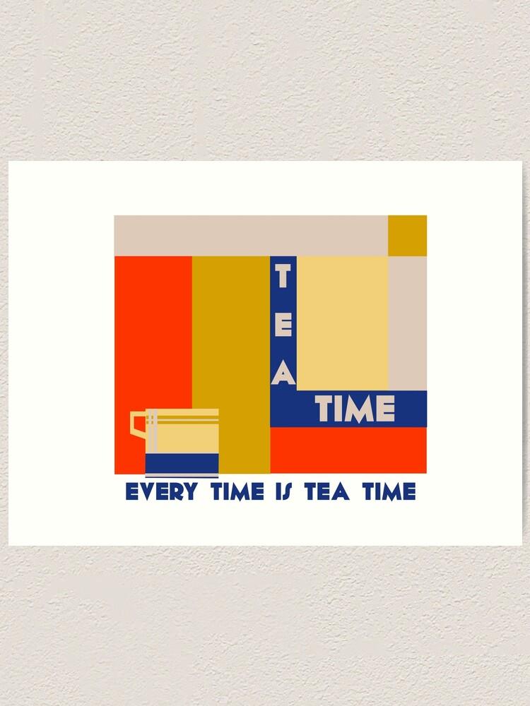 Alternate view of It's tea time, modern geometric art deco Art Print