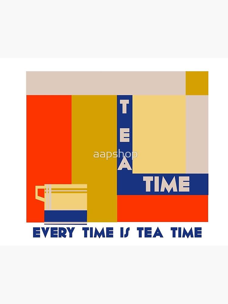 It's tea time, modern geometric art deco by aapshop