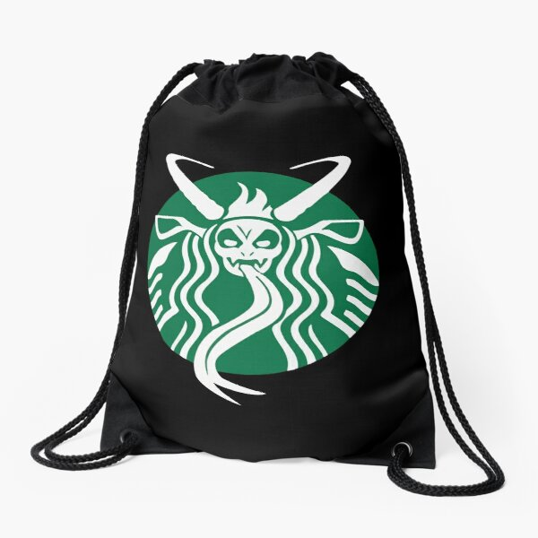 Krampuspresso - Caffeine Demon (BLACK) Drawstring Bag