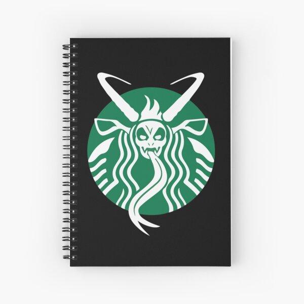 Krampuspresso - Caffeine Demon (BLACK) Spiral Notebook