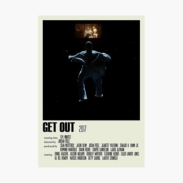 Get Out Alternative Poster Art Movie Large (1) Photographic Print