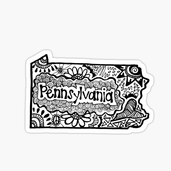 Pennsylvania State Zentangle Sticker